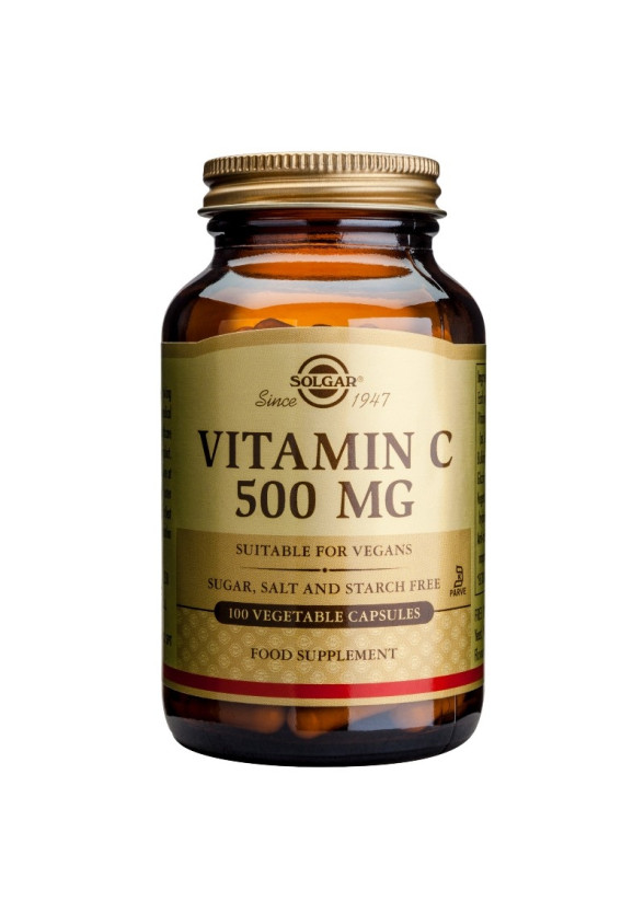 ВИТАМИН Ц 500мг раст. капсули 100бр. СОЛГАР | VITAMIN C 500mg veg.caps 100s SOLGAR