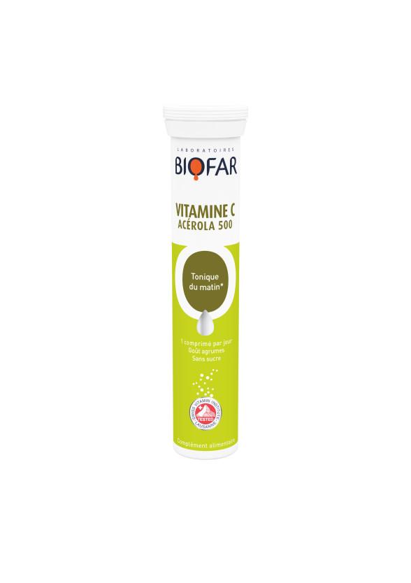 Витамин Ц - Ацерола 500мг х 20 ефф.табл БИОФАР   Vitamin C - Acerola 500mg x 20 eff tabs BIOFAR