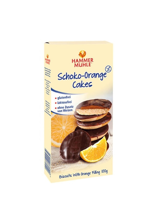 Бисквити с Тъмен Шоколад и Портокал, без глутен 100гр ХАМЕРМИЛ   Biscuits with Dark Chocolate and Orange, gluten-free 100g HAMMERMÜHLE