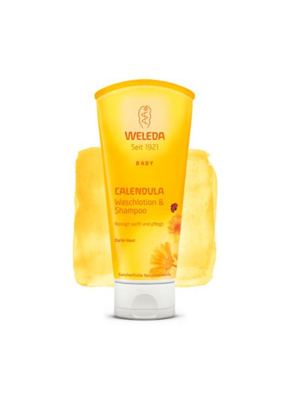 ВЕЛЕДА Душ гел & шампоан с невен 200мл   WELEDA Calendula waschlotion & shampoo 200ml