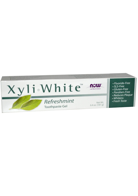 НАУ ФУУДС КСИЛИУАЙТ™ МЕНТА паста за зъби 200гр | NOW FOODS XYLIWHITE™ MINT toothpaste 200g
