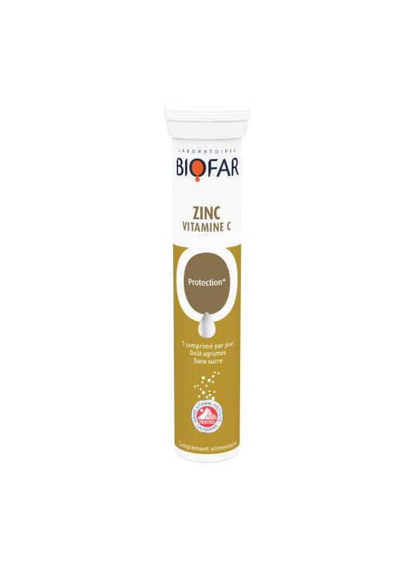 Цинк + Витамин Ц 500мг х 20 ефф.табл БИОФАР | Zinc + Vitamin C 500mg x 20 eff tabs BIOFAR