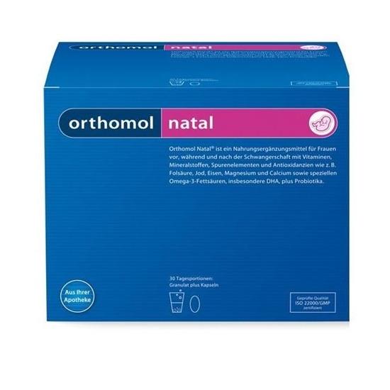 НАТАЛ за бременни и кърмещи жени 30бр. дози ОРТОМОЛ | NATAL 30s doses ORTHOMOL