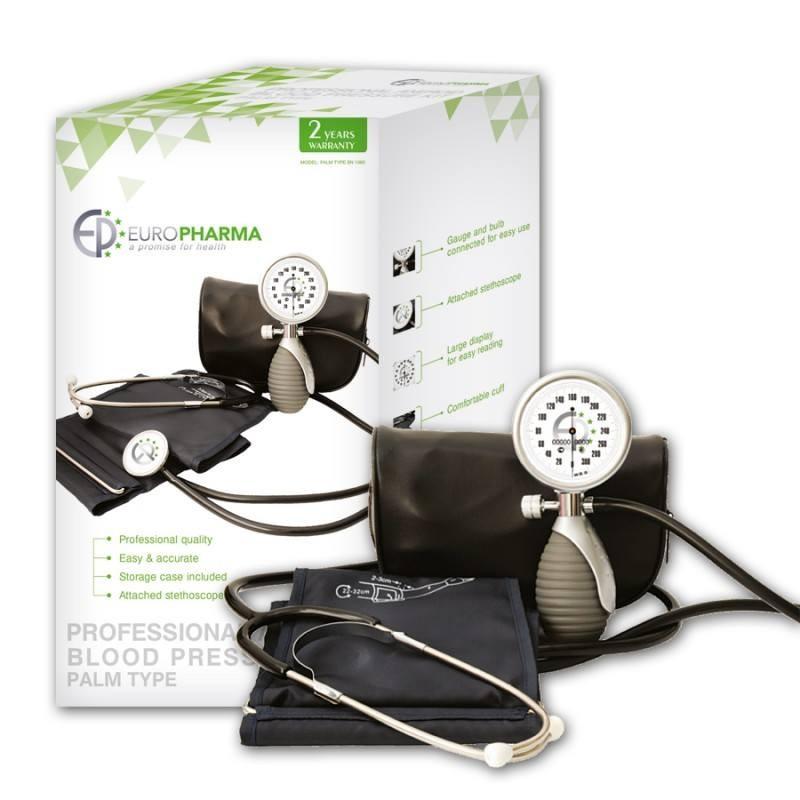 ЕВРОФАРМА Механичен апарат за измерване на кръвно налягане EN-1060 | EUROPHARMA Mechanical blood pressure monitor EN-1060