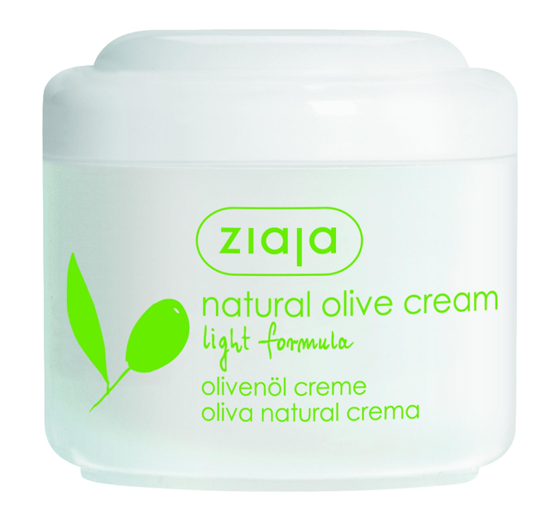 ЖАЯ Крем за лице с маслина лека формула 100мл   ZIAJA Natural olive cream light formula 100ml