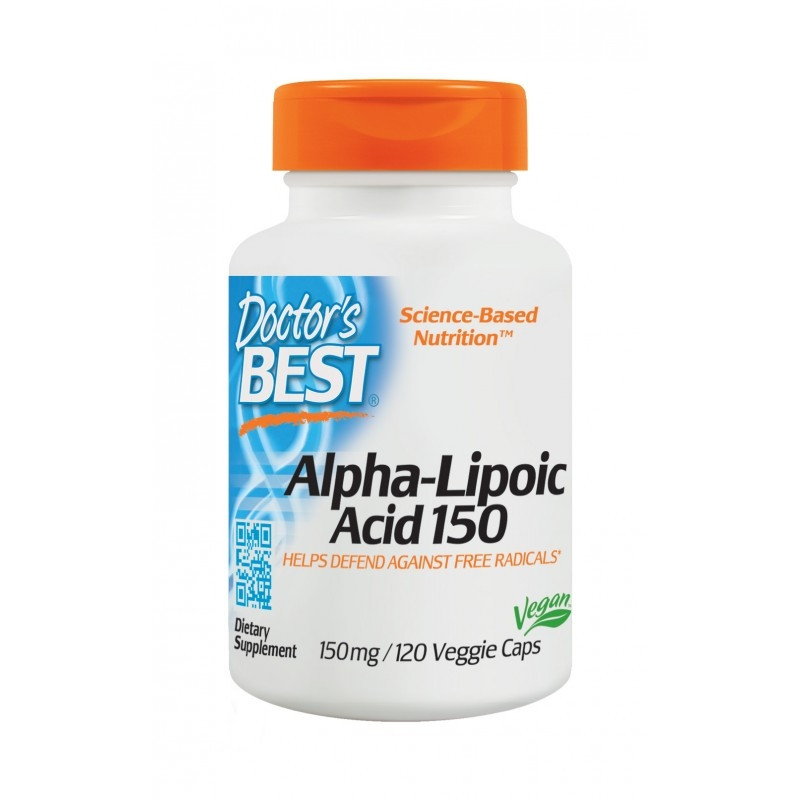 АЛФА ЛИПОЕВА КИСЕЛИНА 150мг 120 веган капс. ДОКТОРС БЕСТ | ALPHA-LIPOIC ACID 150mg 120 veggie caps DOCTOR'S BEST