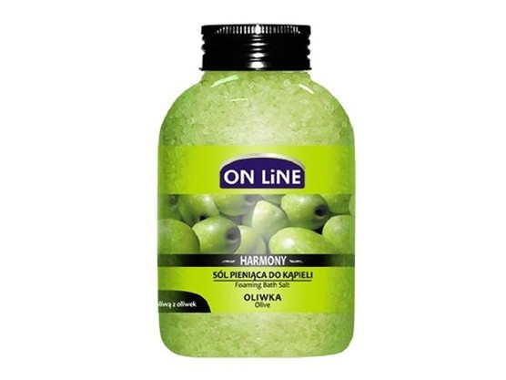 ОН ЛАЙН Пенобразуващи соли за вана с Маслина 600гр. | ON LINE Foaming bath salts with Olive 600g