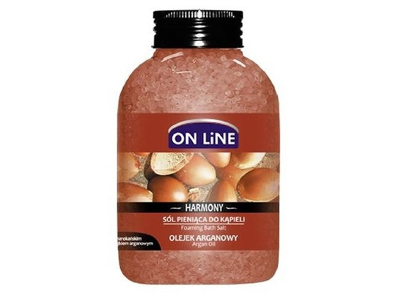ОН ЛАЙН Пенобразуващи соли за вана с Арганово масло 600гр. | ON LINE Foaming bath salts with Argan oil 600g