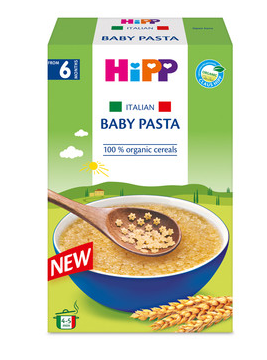 ХИП БИО Италианска бебешка паста - кус-кус на звездички 320гр | HIPP BIO Organic Italian baby pasta - stars 320gr
