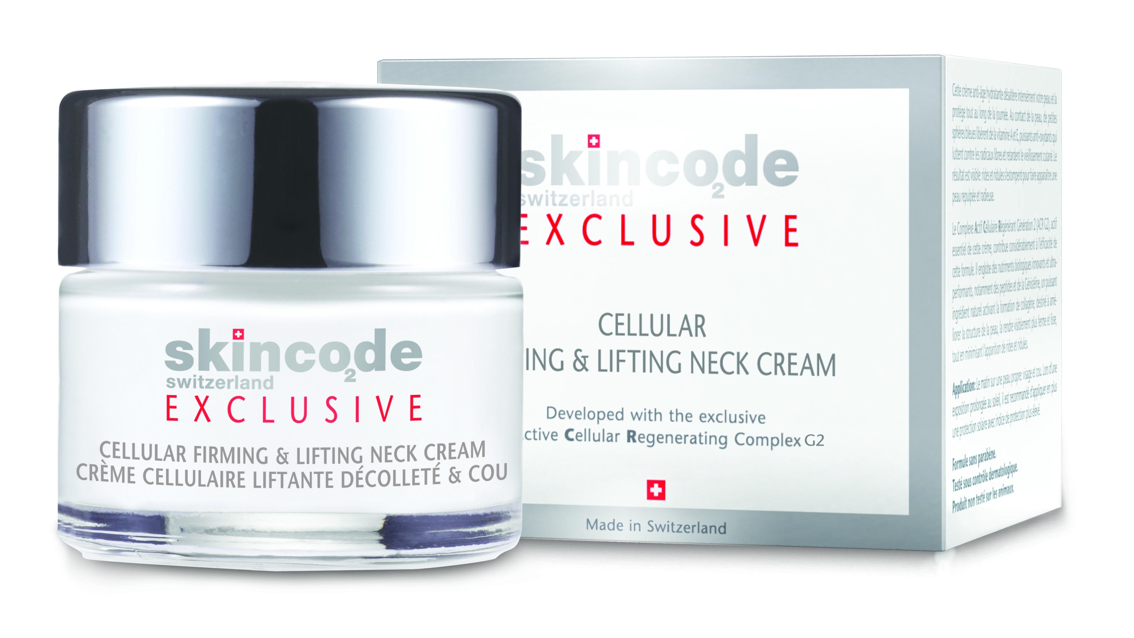 СКИНКОД ЕКСКЛУЗИВ Клетъчен изглаждащ крем за деколте и шия 50мл | SKINCODE EXCLUSIVE Cellular firming and lifting neck cream 50ml