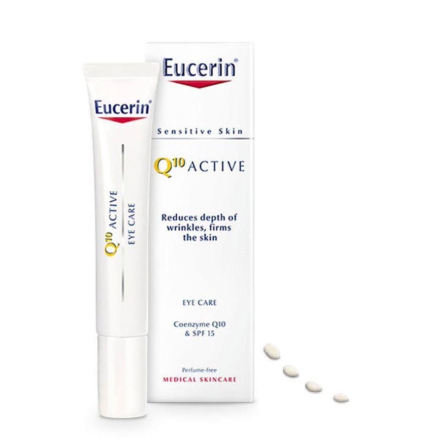 ЮСЕРИН Q10 АКТИВ Околоочен крем SPF15 15мл | EUCERIN Q10 ACTIVE Eye contour cream SPF15 15ml