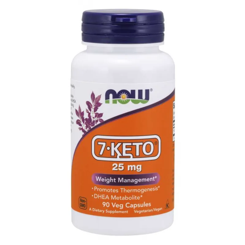 7-КЕТО 25 мг 90 капс. НАУ ФУУДС | 7-KETO 25 mg 90 caps. NOW FOODS