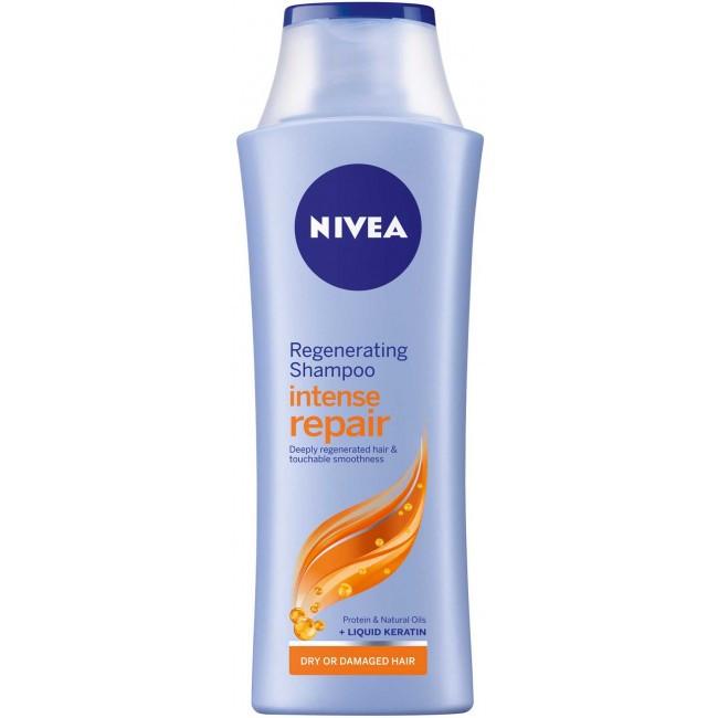 НИВЕА ИНТЕНС КЕЪР & РИПЕЪР Възстановяващ шампоан за суха коса 250мл   NIVEA INTENSE CARE & REPAIR Care shampoo 250ml