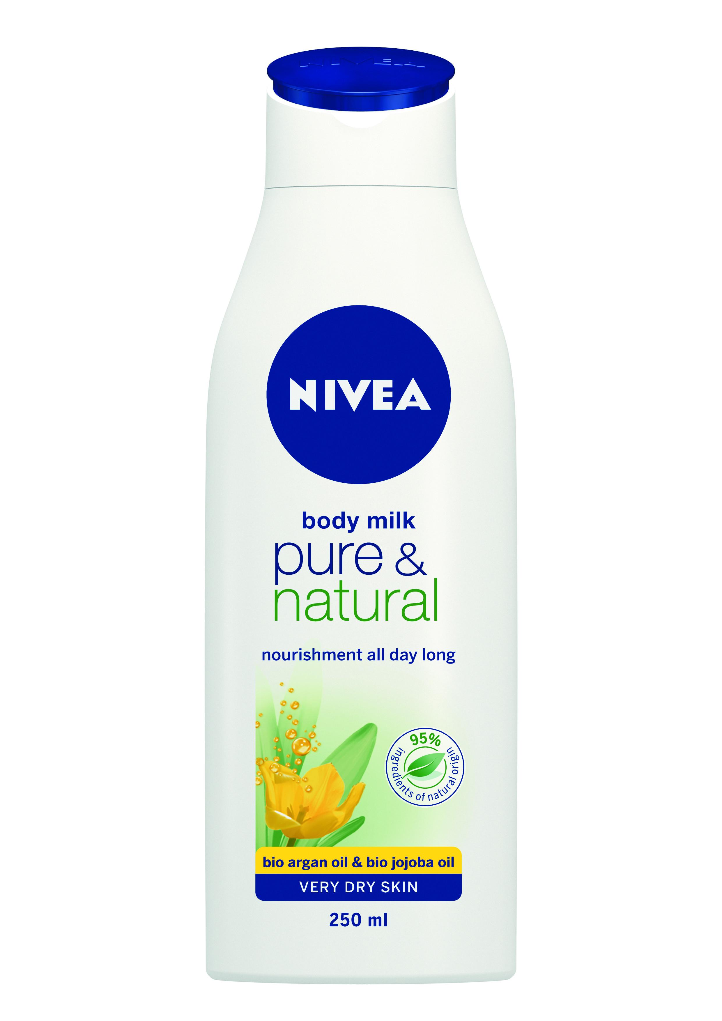 НИВЕА ПЮЪР & НЕЙЧЪРЪЛ Мляко за тяло 250мл | NIVEA PURE & NATURAL Body milk 250ml