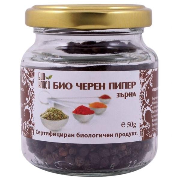 БИО Черен пипер на зърна 50гр БИО КЛАСА | BIO Black pepper grains 50g BIO KLASA