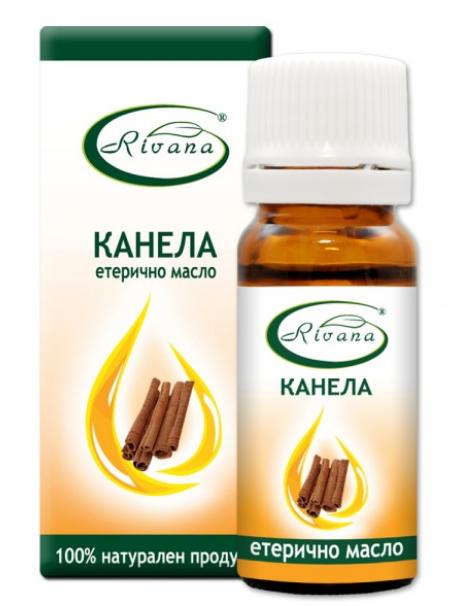 РИВАНА Етерично масло от КАНЕЛА 10мл   RIVANA CINNAMOMUM ZEYLANICUM Essential oil 10ml