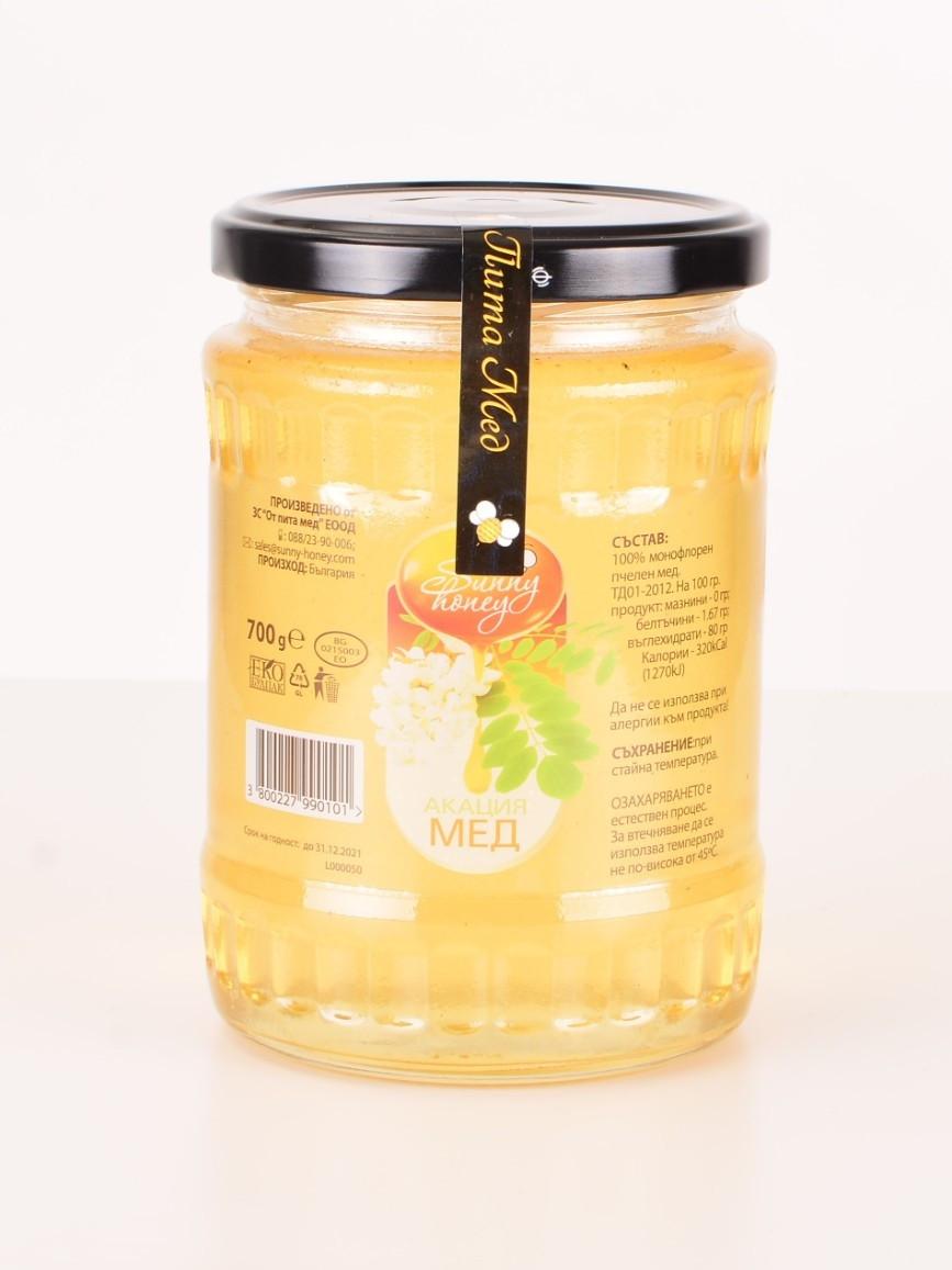 Акациев пчелен мед 700гр СЪНИ ХЪНИ | Acacia Bee Honey 700g SUNNY HONEY