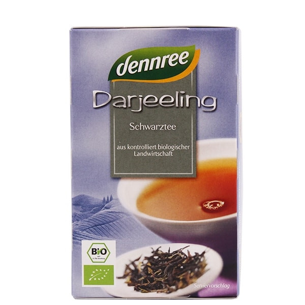 "БИО Чай Черен пакетчета 20бр, 30гр ДАНРЕ | BIO Black tea ""Darjeeling"" teabags 20s, 30g DANNREE"