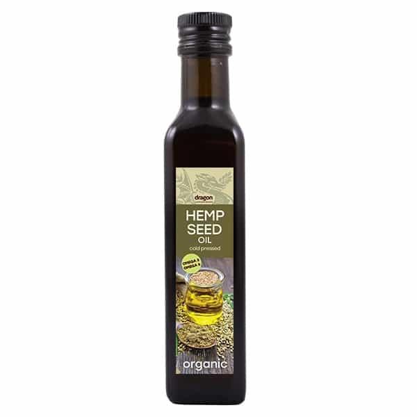 БИО Конопено олио, студено пресовано 250мл ДРАГОН СУПЕРФУУДС | BIO Hemp seed oil, cold pressed 250ml DRAGON SUPERFOODS