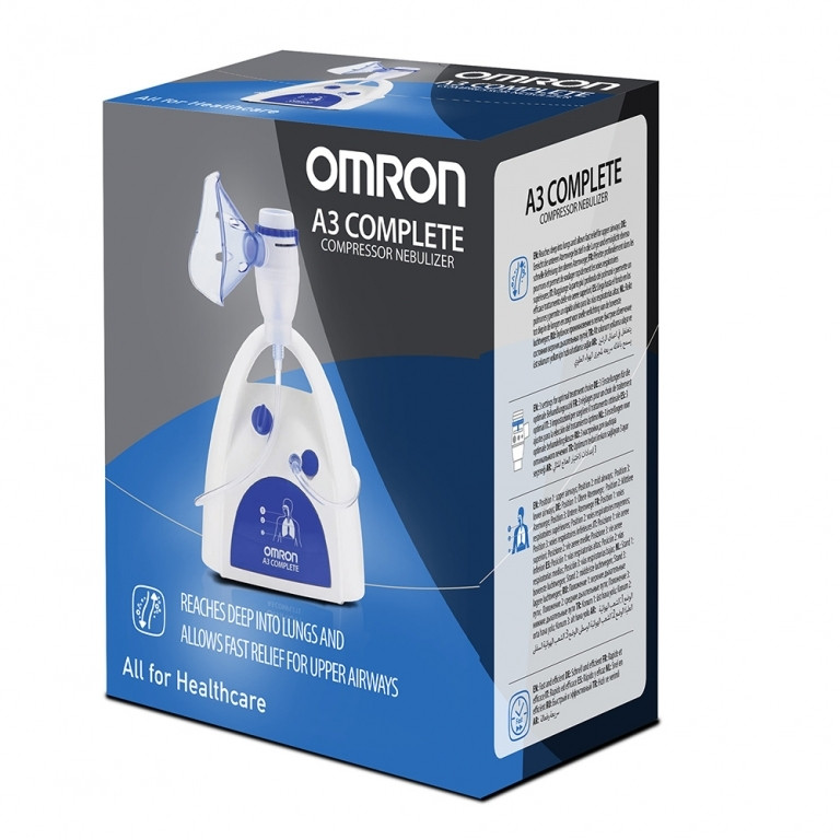 ОМРОН 3 в 1 Регулируем компресорен инхалатор А3 Complete | OMRON 3 in 1 Adjustable compressor nebulizer A3 Complete