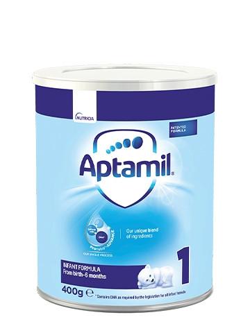 АПТАМИЛ 1 с Pronutra+ Мляко за кърмачета 0-6 м. 400гр.   APTAMIL 1 with Pronutra+ Infant formula 0-6 m 400g