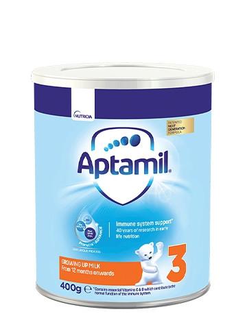 АПТАМИЛ 3 с Pronutra+ Преходно мляко 12+ м. 400гр. | APTAMIL 3 with Pronutra+ Growing up milk formula 12+ 400g