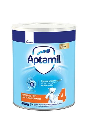 АПТАМИЛ 4 с Pronutra+ Преходно мляко 24+ м. 400гр.   APTAMIL 4 with Pronutra+ Growing up milk formula 24+ 400g
