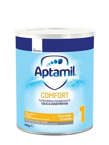 АПТАМИЛ 1 Комфорт с Pronutra+ Мляко за кърмачета 0-6 м. 400гр.   APTAMIL 1 Comfort with Pronutra+ Infant formula 0-6 m 400g