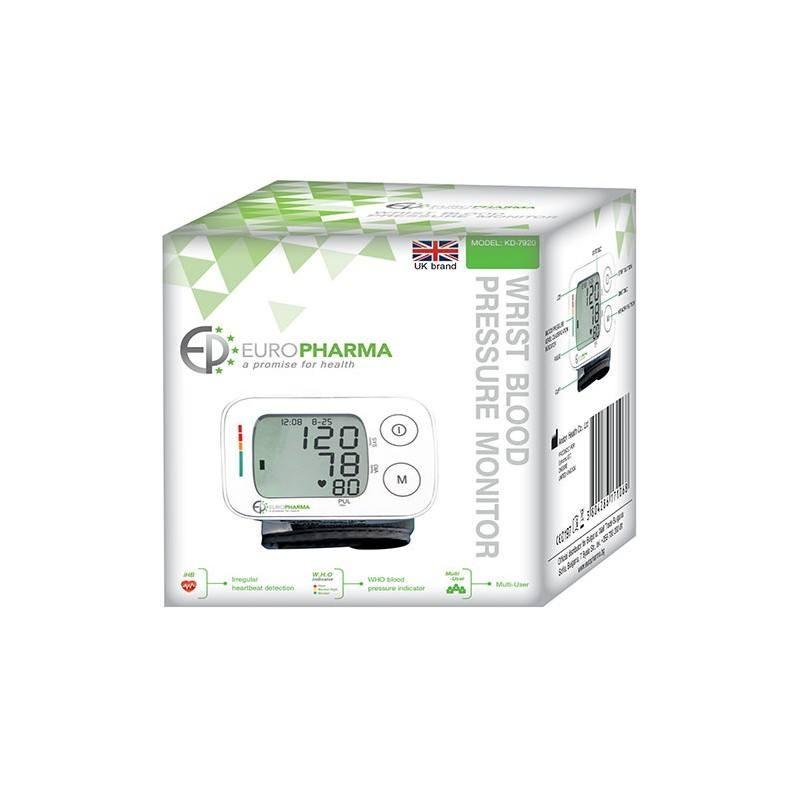 ЕВРОФАРМА Автоматичен апарат за измерване на кръвно налягане за китка KD-7920 | EUROPHARMA Wrist automatic blood pressure monitor KD-7920