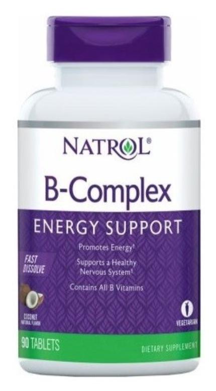 Б-КОМПЛЕКС - бързо разтворим 90 таблетки НАТРОЛ   B-COMPLEX Fast Dissolve 90 tabs NATROL