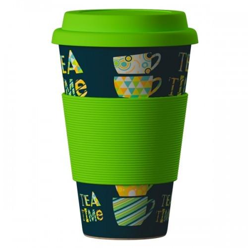 ЕКО ЧАША ОТ БАМБУК Време за чай 400мл. БАЛЕВ БИО | ECO BAMBOO CUP Tea time 400ml BALEV BIO