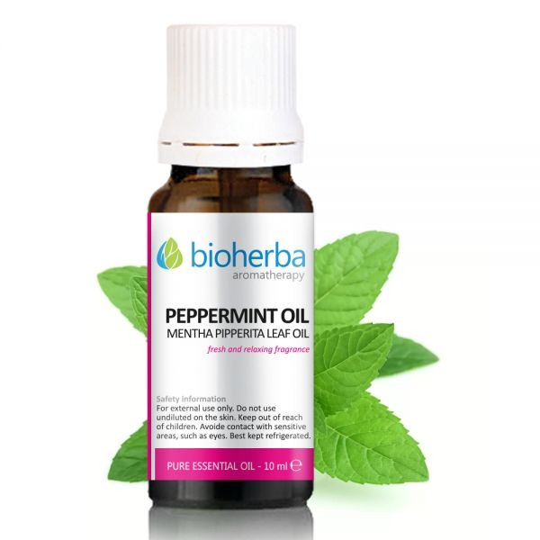 БИОХЕРБА Етерично масло от МЕНТА 10мл | BIOHERBA PEPPERMINT Essential oil 10ml