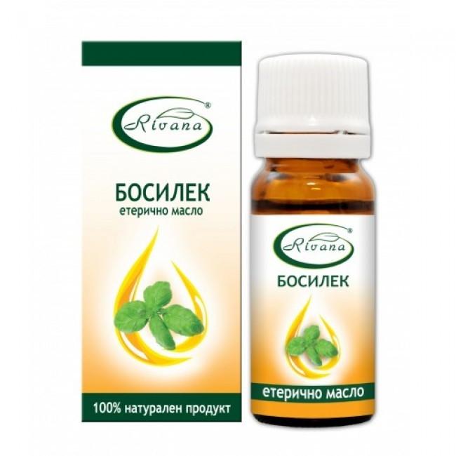 РИВАНА Етерично масло от БОСИЛЕК 10мл   RIVANA BASIL Essential oil 10ml