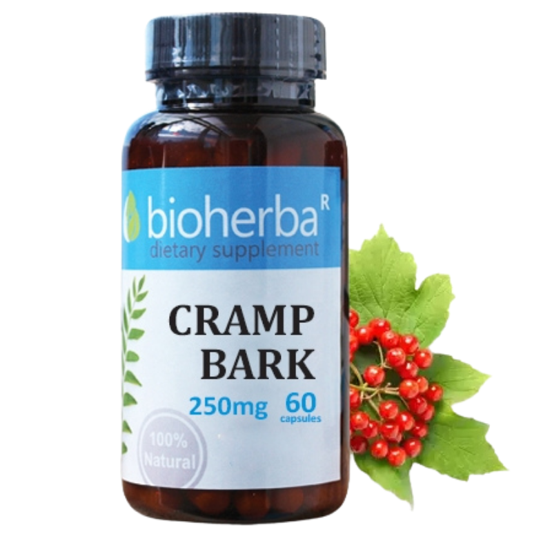 ЧЕРВЕНА КАЛИНА 250мг 60 капс. БИОХЕРБА | CRAMP BARK 250mg 60 caps. BIOHERBA