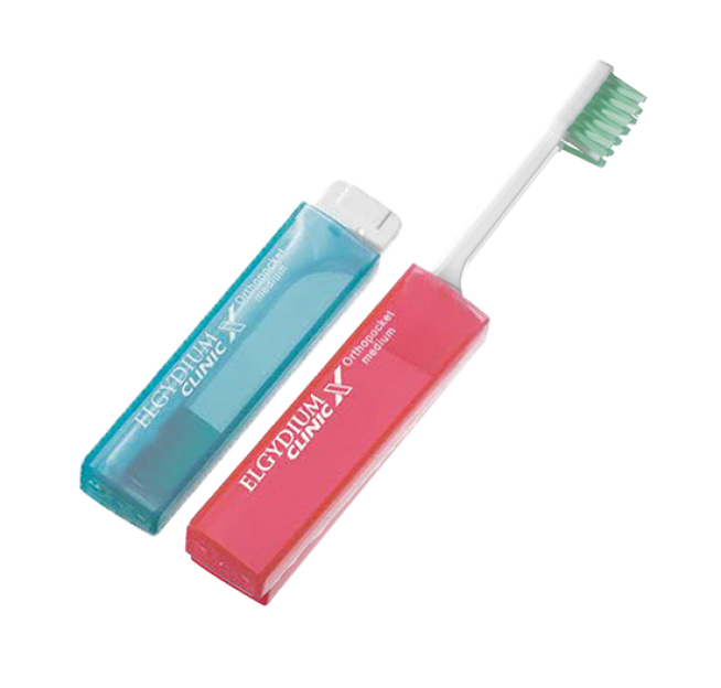 ЕЛГИДИУМ КЛИНИК X Четка за зъби ОРТОПОКЕТ медиум   ELGYDIUM CLINIC X Toothbrush ORTHOPOCKET medium