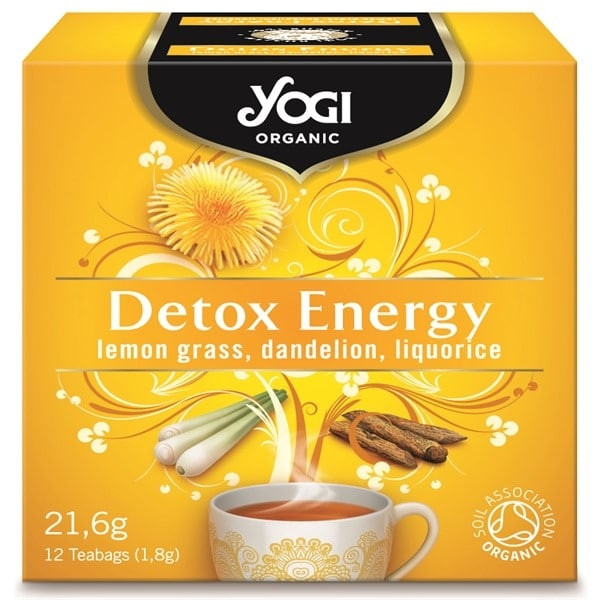 "ЙОГИ ОРГАНИК БИО Чай ""Детокс енерджи"", пакетчета 12бр | YOGI ORGANIC BIO Tea ""Detox energy"", teabags 12s"