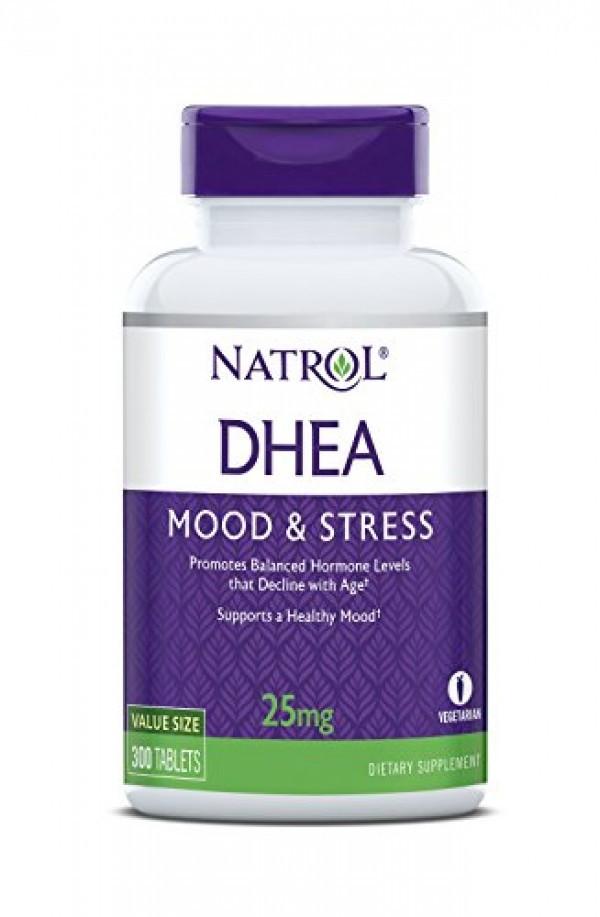 ДХЕА 25 мг. 300 таблетки НАТРОЛ | DHEA 25 mg 300 tabs NATROL