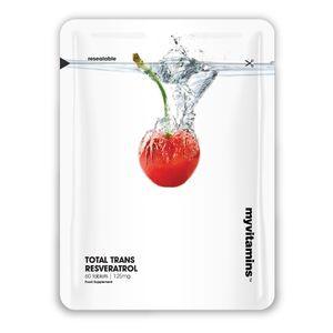 ТОТАЛ ТРАНС РЕСВЕРАТРОЛ 125mg 60 таблетки МАЙВИТАМИНС   TOTAL TRANS RESVERATROL 125mg 60 tabs MYVITAMINS