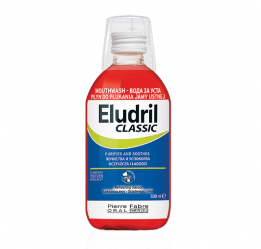 ЕЛУДРИЛ Вода за уста КЛАСИК 500мл | ELUDRIL Mouthwash CLASSIC 500ml