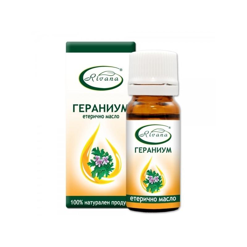 РИВАНА Етерично масло от ГЕРНИУМ (ИНДРИШЕ) 10мл | RIVANA GERANIUM Essential oil 10ml