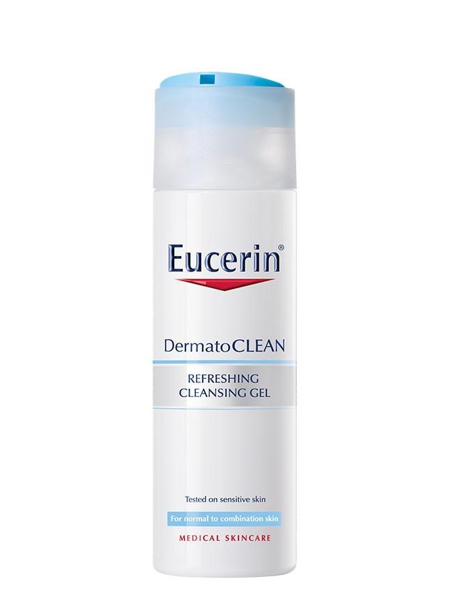 ЮСЕРИН DERMATO CLEAN Измиващ гел 200мл   EUCERIN DERMATO CLEAN Refreshing gel 200ml
