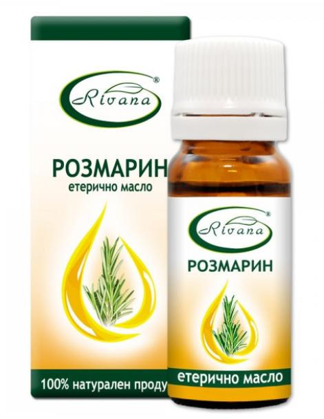 РИВАНА Етерично масло от РОЗМАРИН 10мл   RIVANA ROSMARINUS OFFICINALIS Essential oil 10ml