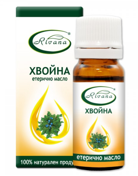 РИВАНА Етерично масло от ХВОЙНА 10мл   RIVANA JUNIPERUS COMMUNIS Essential oil 10ml
