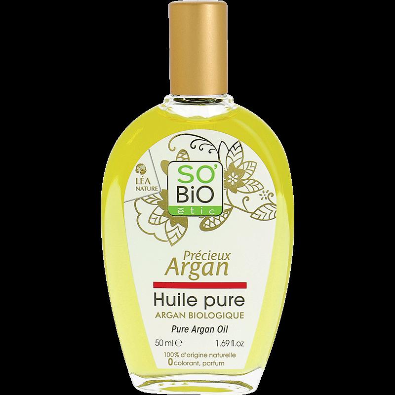 СО'БИО PRECIEUX ARGAN Подхранващо натурално арганово масло 50мл   SO'BIO PRECIEUX ARGAN Organic pure argan oil 50ml