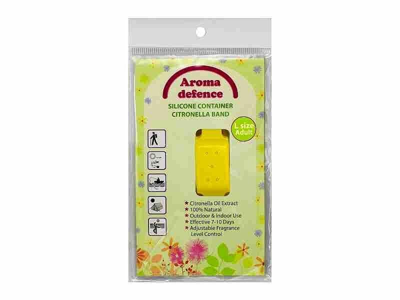 АРОМА ДЕФЕНС СИЛИКОНОВА ГРИВНА (контейнер) Против насекоми За възрастни - Избор от цветове 1бр.   AROMA DEFENCE INSECT WRISTBAND (container) For adults - Colour mix 1s