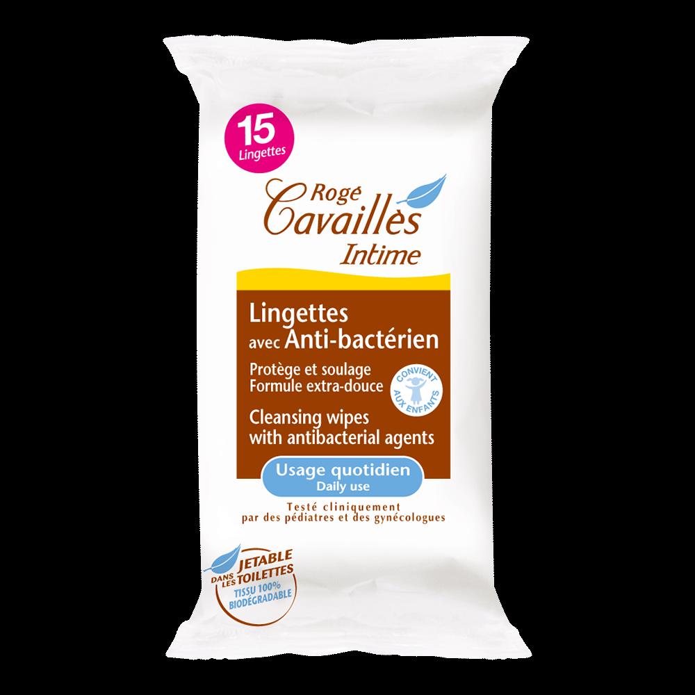 РОЖЕ КАВАЙЕ Антибактериални интимни кърпички 15бр | ROGE CAVAILLES Intimate wipes with antibacterial agent 15s