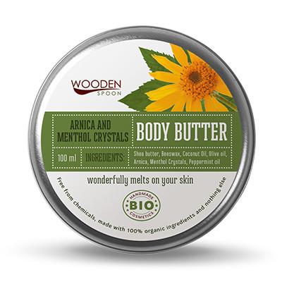 УДЪН СПУУН Крем за тяло Menthol Crystals 100мл   WOODEN SPOON Body Butter Arnica & Menthol 100ml