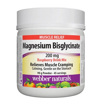 МАГНЕЗИЙ БИСГЛИЦИНАТ 200мг. 90гр. пудра УЕБЪР НАТУРАЛС | MAGNESIUM BISGLYCINATE 200mg 90g powder WEBBER NATURALS