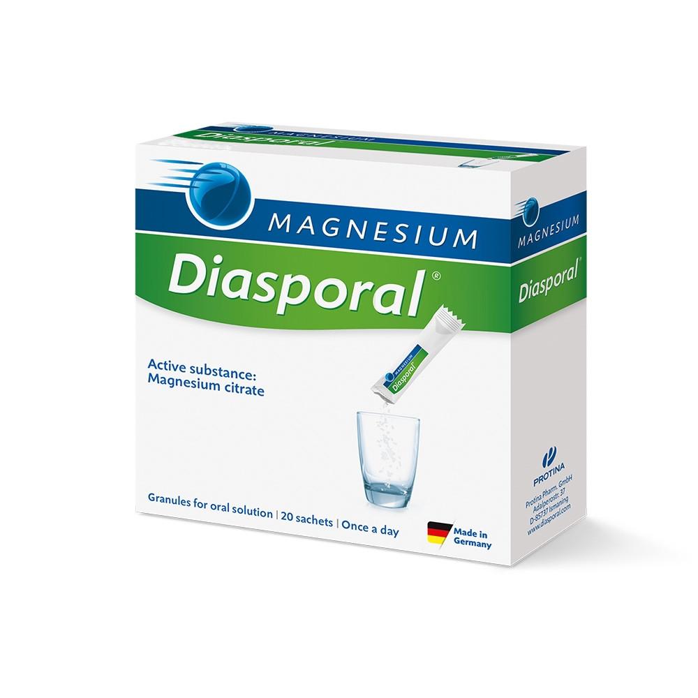 МАГНЕЗИЕВ ДИАСПОРАЛ 400мг. прах за перорален разтвор, сашета 20бр. | MAGNESIUM DIASPORAL 400mg powder for oral solution, sachets 20s