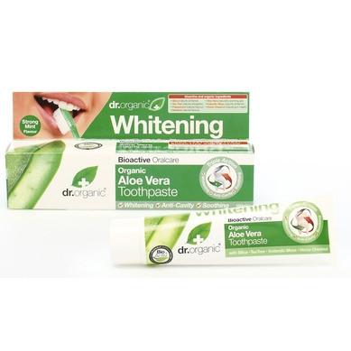 Д-Р ОРГАНИК Алое вера избелваща паста за зъби 100мл | DR ORGANIC Aloe vera toothpaste whitening 100ml